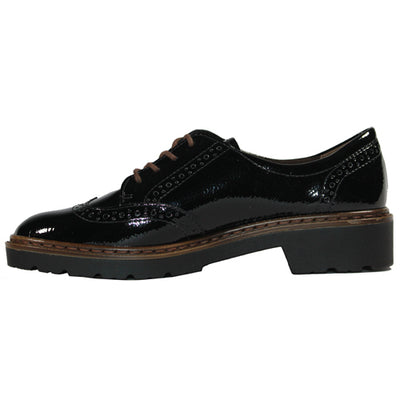 Ara  Brogues - 16502-81  - Black Patent