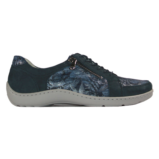 Waldlaufer Wide Fit Trainers - 496042  - Navy