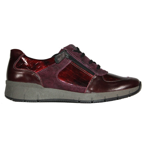 Suave leather Walking Shoes - Jenny - Burgundy