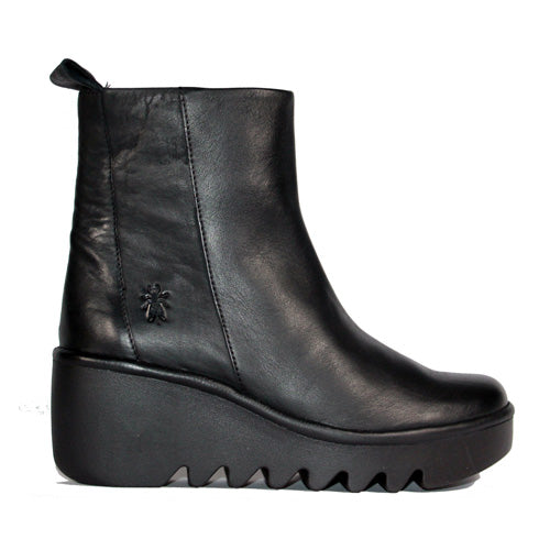 Fly London Wedge Boot - Bale 2 - Black