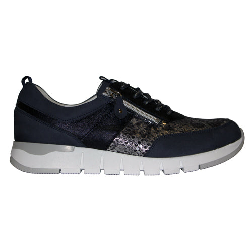 Waldlaufer Wide Fit Trainer - 908009 - Navy