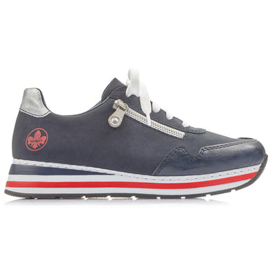 Rieker  Wedge Trainers - L2321-15 - Navy