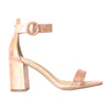Millie & Co. Block Heel Sandal - Lisa - Rose Gold
