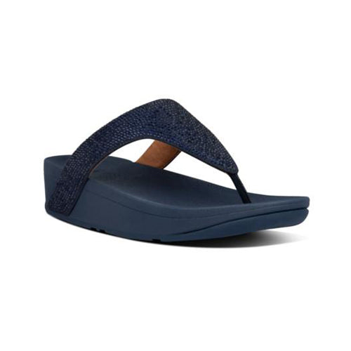 FitFlop Toe Post Sandal - Lottie Crystal - Navy