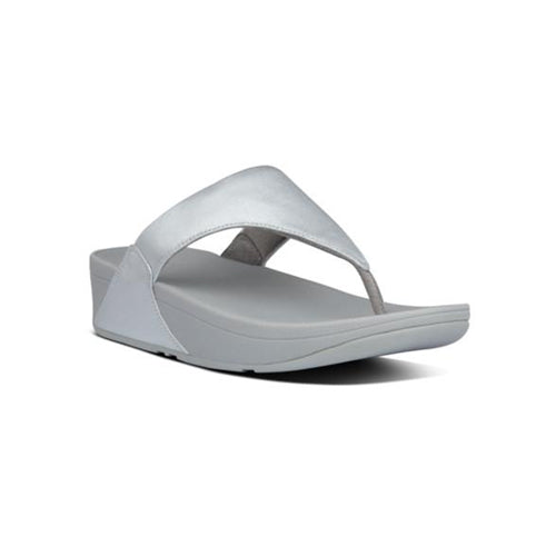 Fitflop Leather Toe Post - Lulu - Silver