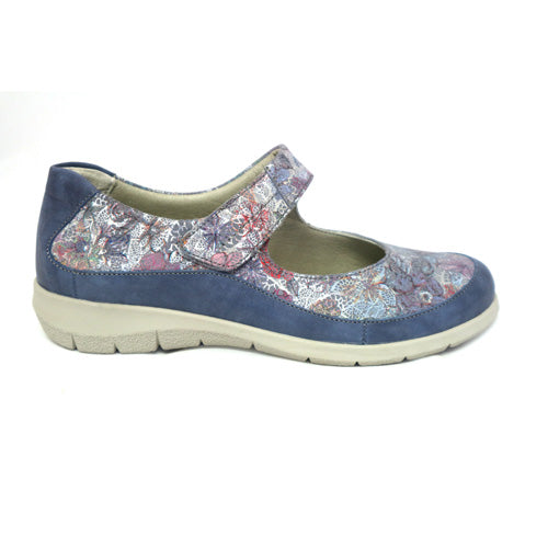 Suave  Walking Shoes - Lena - Navy Floral