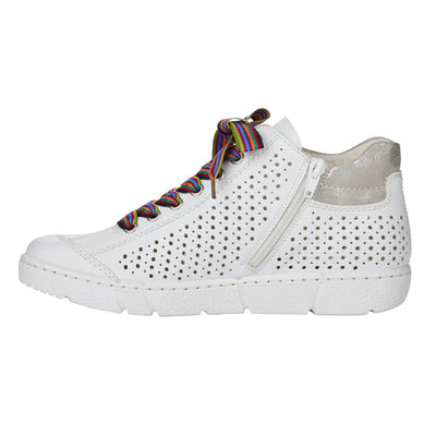 Rieker Hi Top Trainers - N1747-62-80 - White