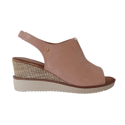 Zanni Wedge Sandals - Rahina - Pink
