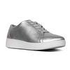 Fitflop Leather Sneakers  - Rally - Silver