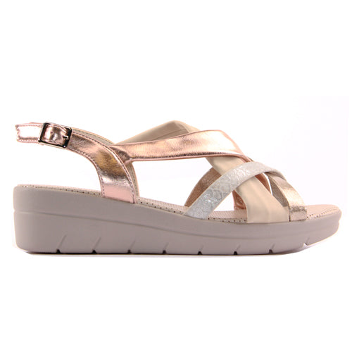 Zanni Ladies Wedge Sandal - Semnan - Pink