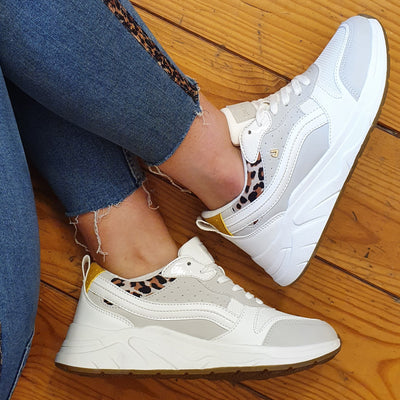 Una Healy Retro Trainers - We Back - White Multi