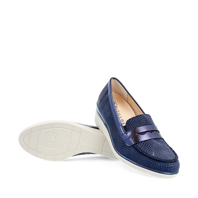 Pitillos Wedge Shoes - 6020 - Navy