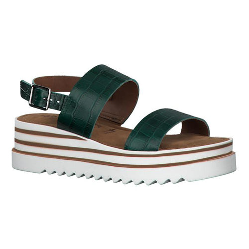 Tamaris Wedge Sandal - 28007-24 - Green