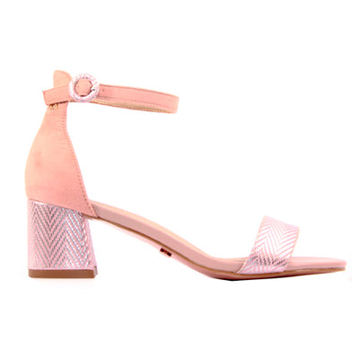 Una Healy Block Heeled Sandals  - Whipping Post - Rose Gold