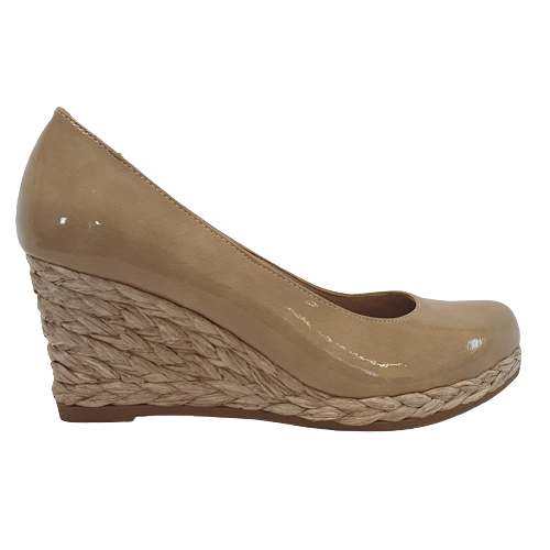 Marco Tozzi Wedge Shoes - 22440-24 - Nude Patent