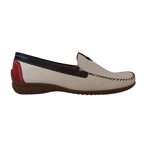 Gabor Leather Moccasins - 46.090-68 - Navy/ White/ Red