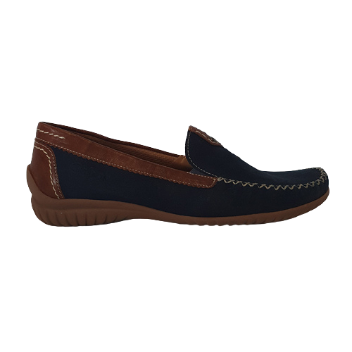 Gabor Leather Moccasins - 46.090-46 - Navy/ Tan