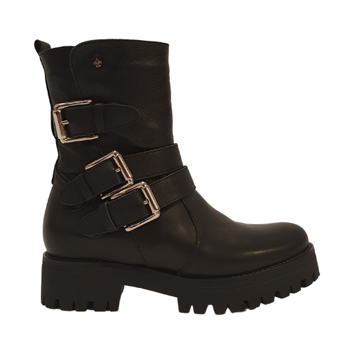 Amy Huberman Platform Boots - Easy Rider - Black