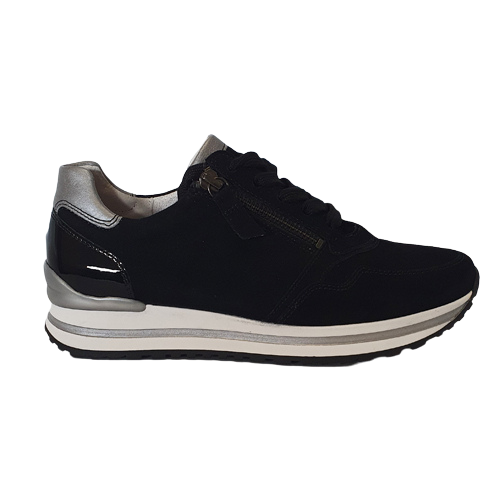 Gabor Wide Fitting Trainers - 66.528 - Black/Silver