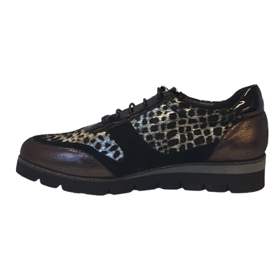 Amy Huberman Wedge Shoes - Its Complicated - Leopard
