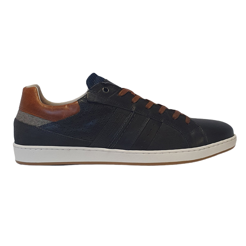 Tommy Bowe Leather Trainers - Mortlock - Navy