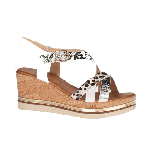 Zanni Ladies Wedge Sandal - Ubaid - White