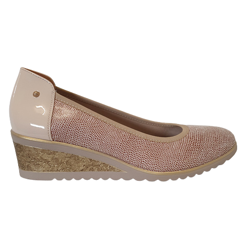 Zanni Wedge Shoe - Nabata - Nude