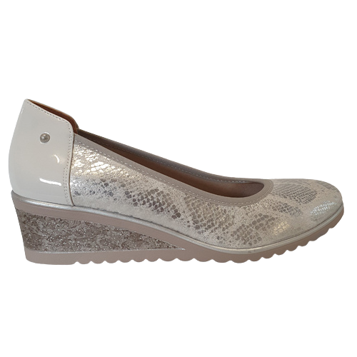 Zanni Wedge Shoe - Nabata - SIlver