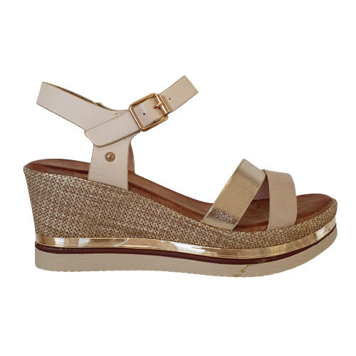 Zanni Ladies Wedge Sandal - Adlan - Sand