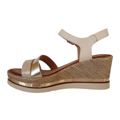 Zanni  Wedge Sandals - Adlan - Sand/Almond
