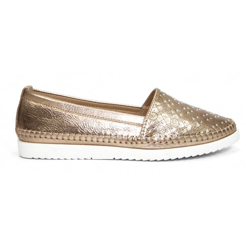 Lunar Flat Shoe - Ashby - Rose Gold
