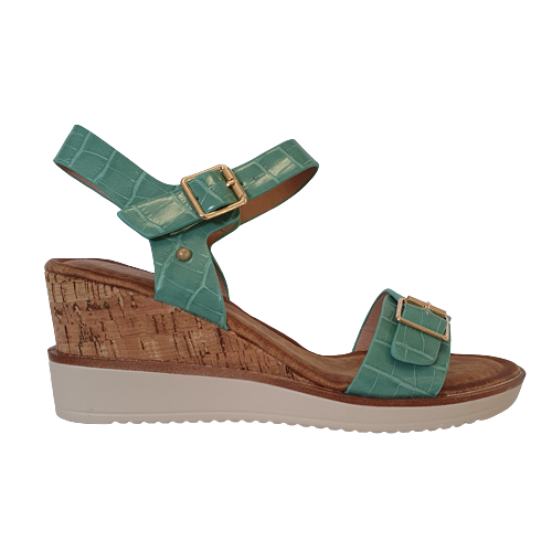 Zanni  Wedge Sandals - Aswan  - Green