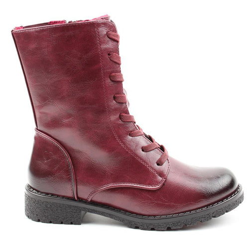 Heavenly  Feet Mid Boots - Chloe - Burgundy