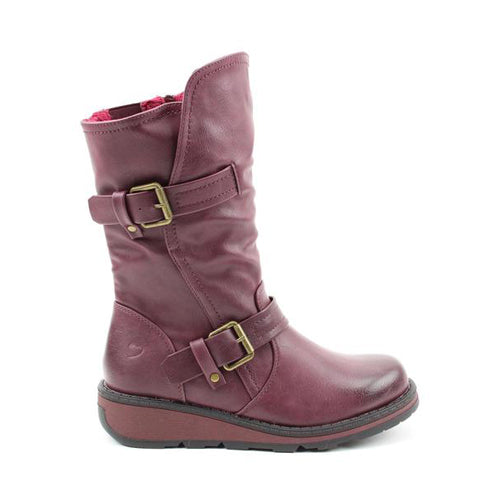 Heavenly Feet Midi Boots - Hannah - Burgundy
