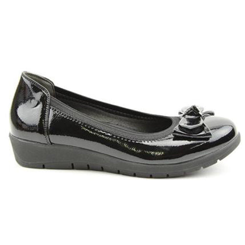 Heavenly Feet Wedge Shoe - Nina - Black Patent