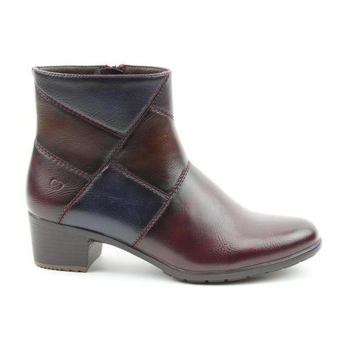 Heavenly Feet Ankle Boot - Suzie - Burgundy Multi