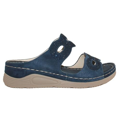 Redz  Wedge  Sliders - B1 - Navy