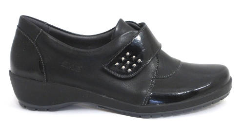 Suave- Blaze - Black - Low Wedge Walking Shoe