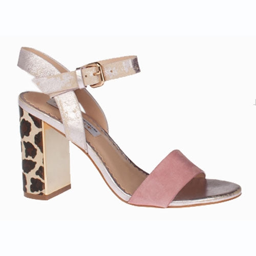 Amy Huberman Block Heeled Sandals - Blonde Crazy  - Pink