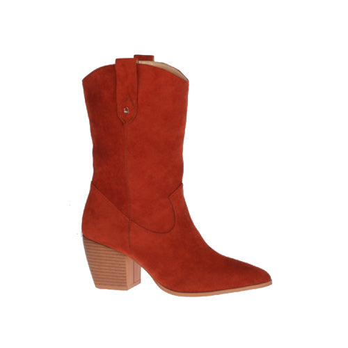 Una Healy Ladies Ankle Boots - Broken Halos - Rust