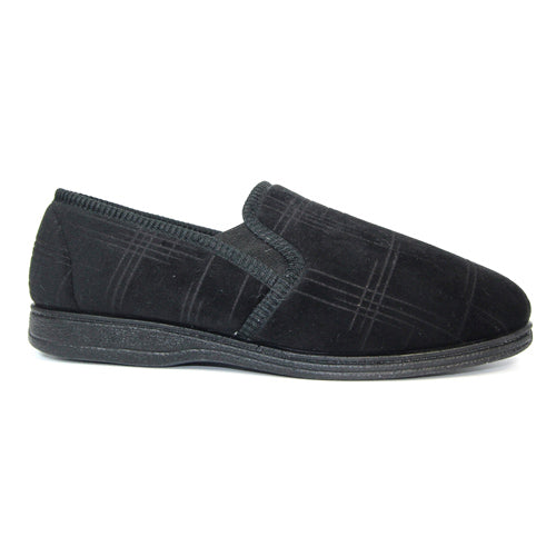 Lunar Goodyear Slipper - Denver - Black