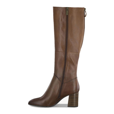 Tamaris Leather Knee Boots - 25515-25 - Tan