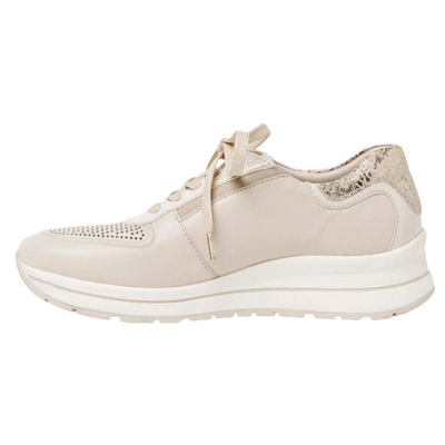 Tamaris Wedge Trainers - 23733-26 - Nude