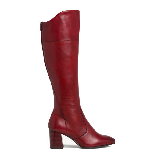 Tamaris leather Knee Boots - 25515-23 - Red