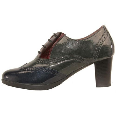 Patrizio Como Block Heeled Shoes  - Este - Grey