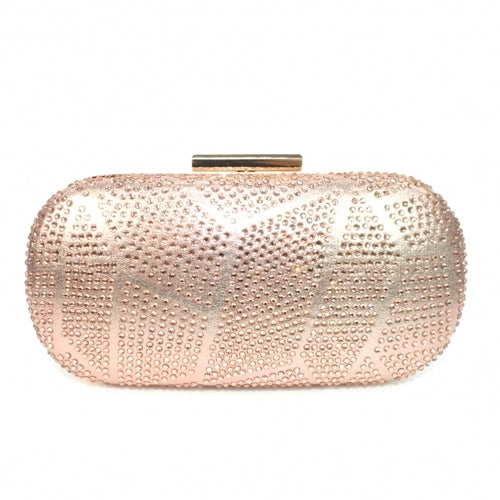 Lunar Clutch Bag - Francie - Rose Gold