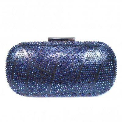Lunar Gemstone Clutch Bag - Francie  - Navy