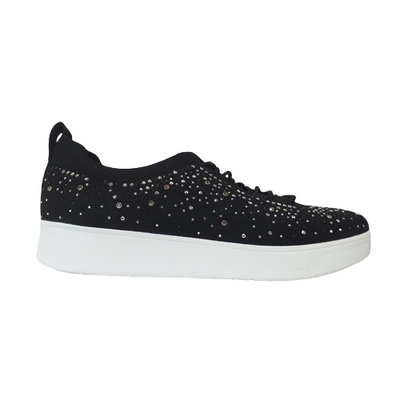 Fitflop Trainers -  Rally Crystal Knit - Black