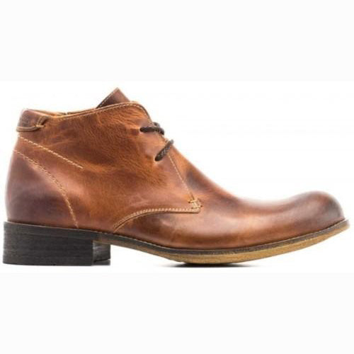 Base London Leather Boot - Gravel - Chestnut
