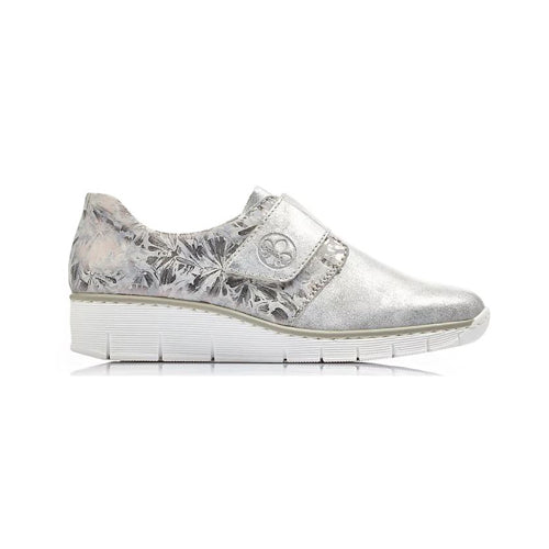 Rieker Wedge Shoe - 53752-80 - Silver Grey